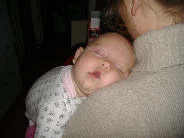 Sleeping baby echo